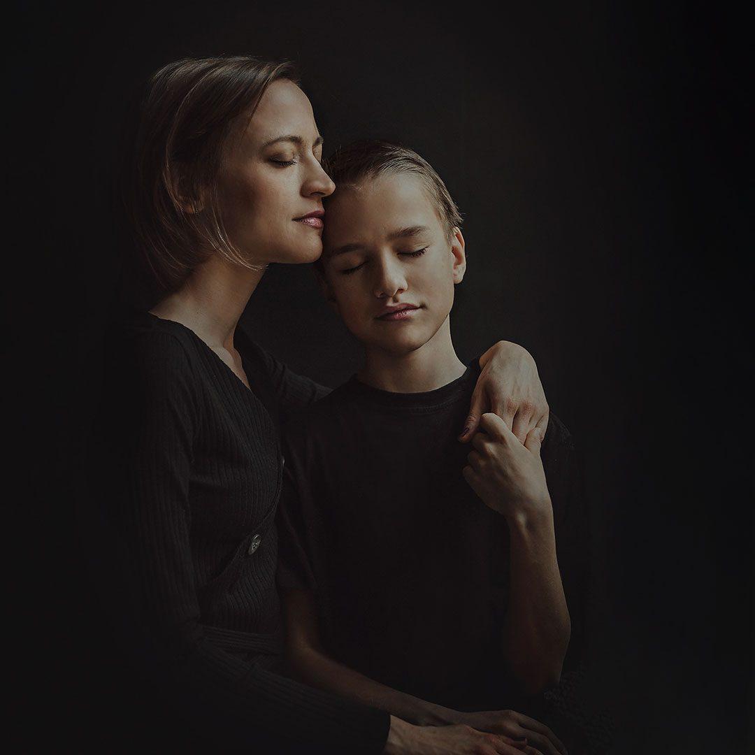 družinski portret mama sin
